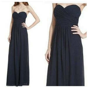 NWT Samantha Paige floor lenght strapples dress